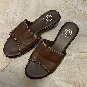 Rockport Open Toe Leather Slides